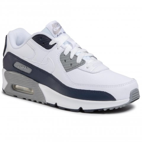 Boty NIKE - Air Max 90 Ltr (GS) CD6864 105 White/White/Particle Grey (38)